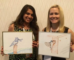 Double biosketch: Preeti Desai and Elizabeth Sorrell were at NAOC tweeting for Audubon.
