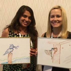 Double biosketch: Preeti Desai and Elizabeth Sorrell were at NAOC tweeting for Audubon.