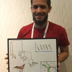 Gracias a Fernando Machado-Stredel for helping draw the Venezuelan coastline on a biosketch of his wood-wren research.
