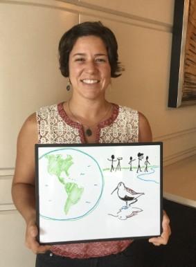 Meet Monica Iglecia of Manomet, whose work improves migratory shorebird habitat around the western hemisphere.
