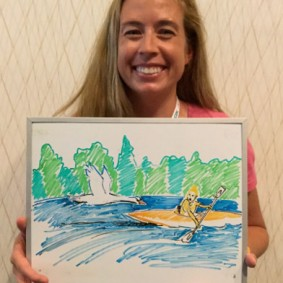 Researcher Nicole Wood found herself on the wrong side of a Mute Swan one time in Michigan.
