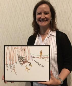 This is Nina Hill studying secretive marsh birds and invasive vegetation in Minnesota prairie potholes.