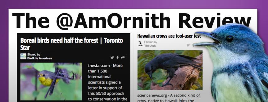 The @AmOrnith Review 09-21-16 social.amornithnews.com