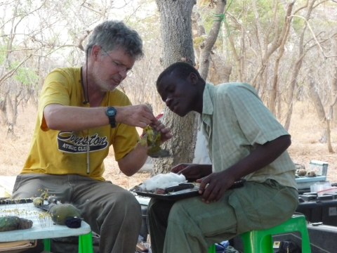 John Bates teaching in Malawi