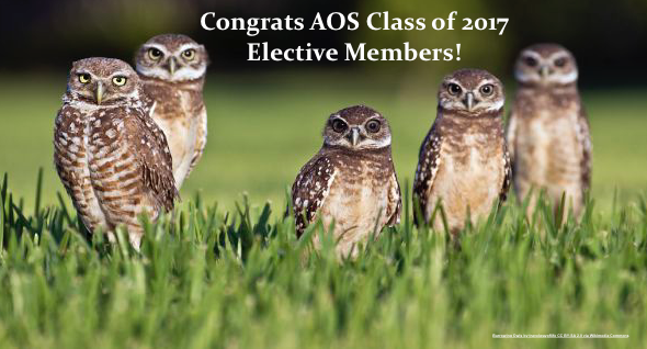 The American Ornithological Society Welcomes the 2017 Class of ElectiveMembers